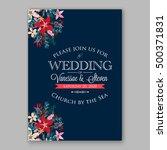 wedding invitation card... | Shutterstock .eps vector #500371831