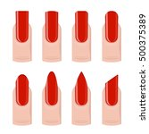 vector set of different nails...   Shutterstock .eps vector #500375389