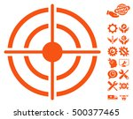 target pictograph with bonus... | Shutterstock .eps vector #500377465