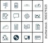 set of 16 universal editable... | Shutterstock .eps vector #500379325