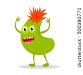 funny colorful monster icon on... | Shutterstock . vector #500380771