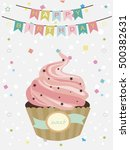 happy birthday. invitation ... | Shutterstock .eps vector #500382631