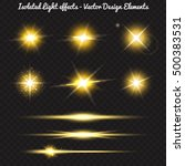 vector set of golden light... | Shutterstock .eps vector #500383531