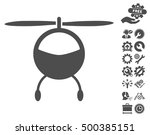 helicopter icon with bonus... | Shutterstock .eps vector #500385151
