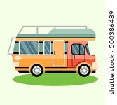 travel car illustration | Shutterstock .eps vector #500386489