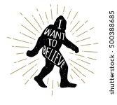 hand drawn bigfoot yeti... | Shutterstock .eps vector #500388685