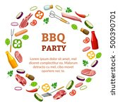 barbecue party poster. ... | Shutterstock .eps vector #500390701
