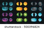 set of glossy colorful buttons... | Shutterstock .eps vector #500396824
