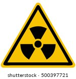 radioactive triangle sign