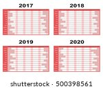 full year wall planners for... | Shutterstock .eps vector #500398561