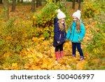 two lovely girlfriends in... | Shutterstock . vector #500406997