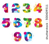 vector numbers painted by... | Shutterstock .eps vector #500409511