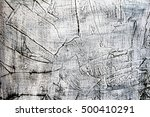 aged white and black painted... | Shutterstock . vector #500410291