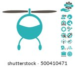 helicopter icon with bonus... | Shutterstock .eps vector #500410471
