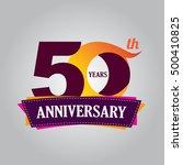 50 years anniversary... | Shutterstock .eps vector #500410825