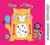 happy cat cartoon. cute cat...   Shutterstock .eps vector #500415007
