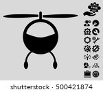 helicopter icon with bonus... | Shutterstock .eps vector #500421874