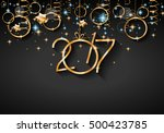 2017 happy new year background... | Shutterstock . vector #500423785