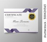 certificate template awards... | Shutterstock .eps vector #500424565