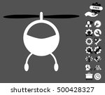 helicopter icon with bonus... | Shutterstock .eps vector #500428327
