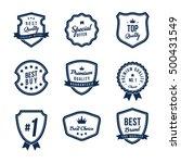 sale promotion label  badge ... | Shutterstock .eps vector #500431549