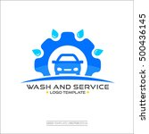 auto wash and service car logo... | Shutterstock .eps vector #500436145