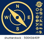 compass pictograph with bonus... | Shutterstock .eps vector #500436409