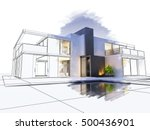 3d rendering of a luxurious... | Shutterstock . vector #500436901