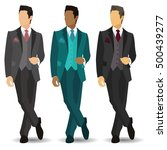 great gentlemen  stylish ... | Shutterstock .eps vector #500439277