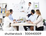 group of business people having ...   Shutterstock . vector #500440009