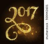 vector 2017 happy new year... | Shutterstock .eps vector #500442601