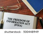 the freedom of information act  ... | Shutterstock . vector #500448949