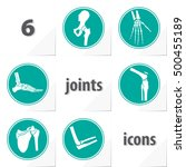 six human joints icons ankle... | Shutterstock .eps vector #500455189
