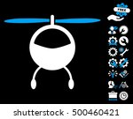 helicopter pictograph with... | Shutterstock .eps vector #500460421