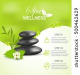wellness spa treatment  vector... | Shutterstock .eps vector #500462629