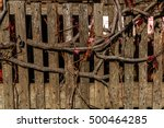 Background Of Old Wood. Fence...
