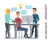 teamwork office idea business...   Shutterstock .eps vector #500464327