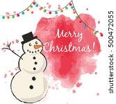 merry christmas card ... | Shutterstock .eps vector #500472055
