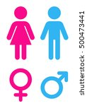 man and woman flat icon. sign... | Shutterstock .eps vector #500473441