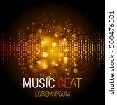 golden lights. abstract bokeh... | Shutterstock .eps vector #500476501