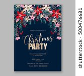 christmas party invitation with ... | Shutterstock .eps vector #500476681