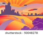 landscape with a city and... | Shutterstock .eps vector #50048278