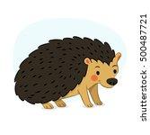 cute hedgehog illustration | Shutterstock .eps vector #500487721