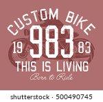 vintage motorbike race   hand... | Shutterstock .eps vector #500490745