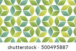 gold shaded 3d cube seamless...   Shutterstock .eps vector #500495887