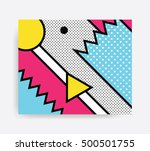 colorful pop art geometric... | Shutterstock .eps vector #500501755
