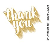thank you. lettering... | Shutterstock .eps vector #500502205