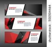 business banner template... | Shutterstock .eps vector #500504464