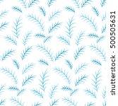 christmas pattern on a white... | Shutterstock .eps vector #500505631