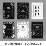 set of graceful floral banner... | Shutterstock .eps vector #500506225
